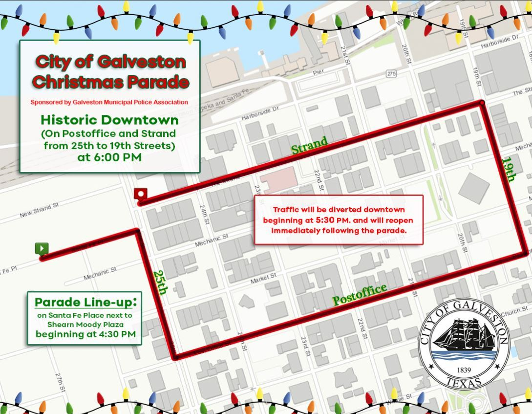 Christmas Parade Map